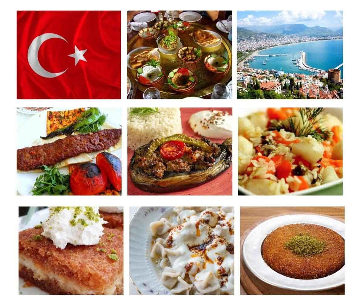 تنوع غذاهای ترکیه